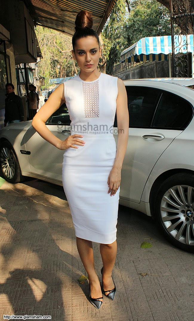 kangana ranaut in white dress