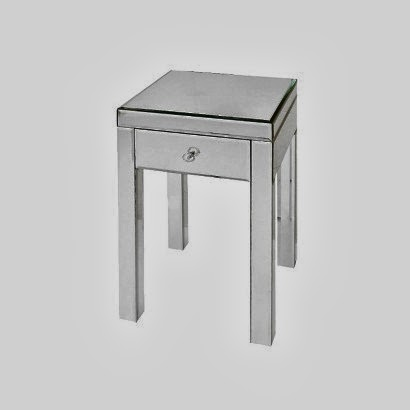 TARGET THRESHOLD MIRRORED GLASS ACCENT TABLE WITH DRAWER