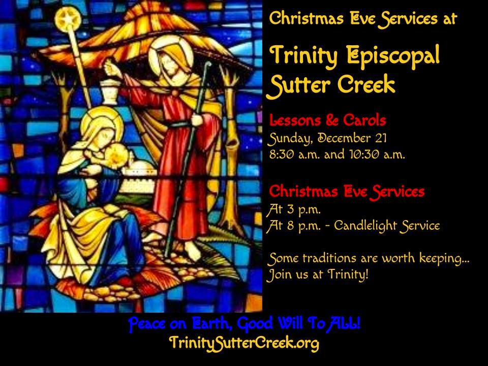Christmas Eve Services at Trinity Sutter Creek