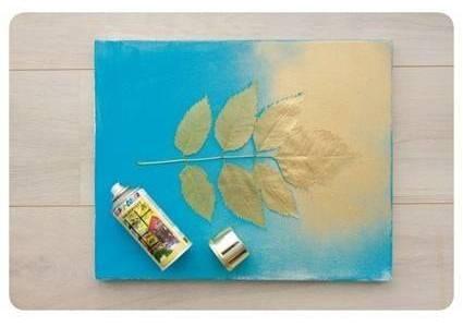 Рисунки на листьях красками своими руками