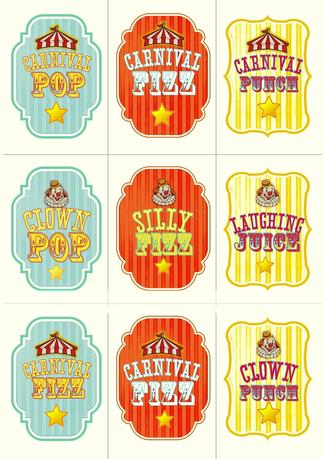 This is a picture of Adorable Free Carnival Printable