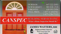 Canspec Home Inspections James Watters Home Inspector Toronto Oshawa Newmarket
