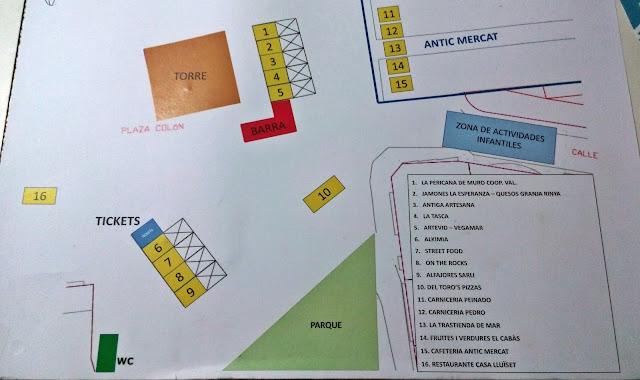 Mapa II Feria Gastronómica de Torrent