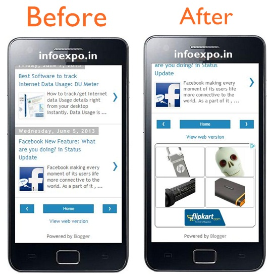 How to Show Adsense Ads on Mobile Version of Blogger Blogs