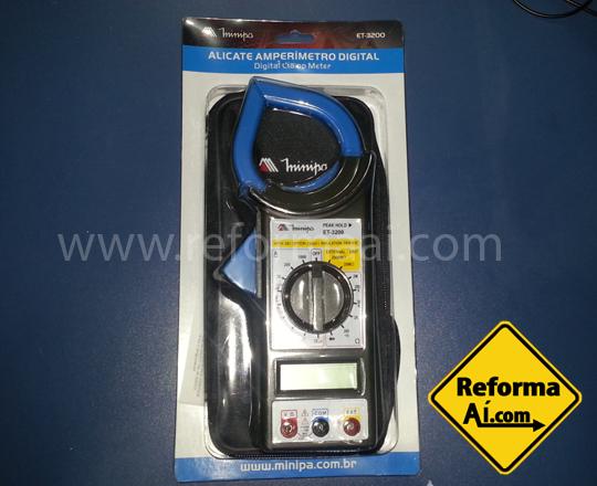 Alicate Amperímetro Minipa Et-3200