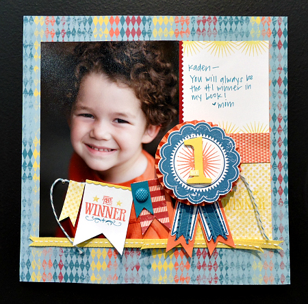1st Place Winner Scrapbook Page