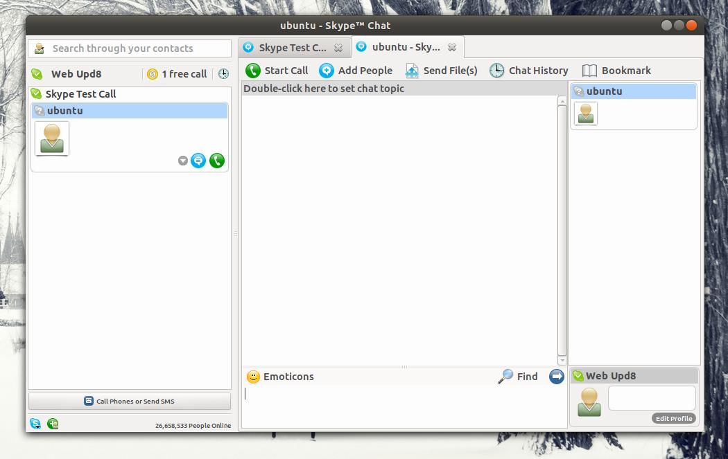 Skype una sola ventana