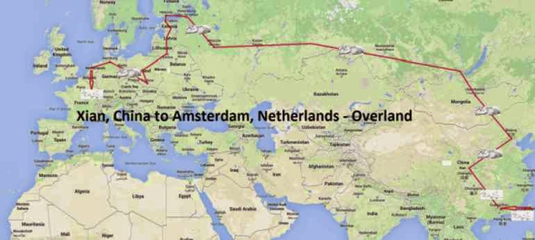 Overland, Xian to Amsterdam