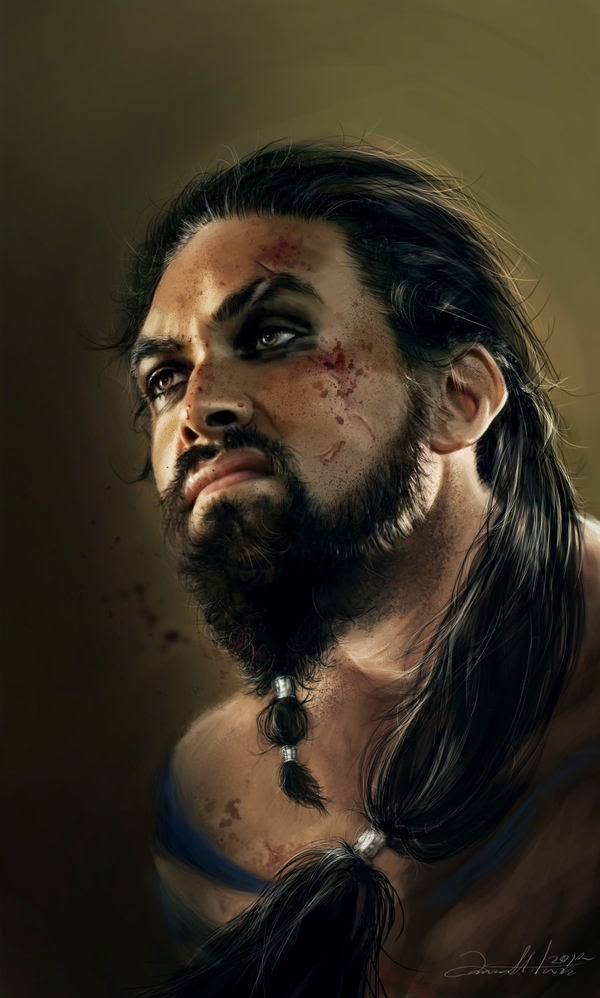 15-Khal-Drogo-Ania Mitura-GoT-Game-of-Thrones-Digital-Paintings-www-designstack-co