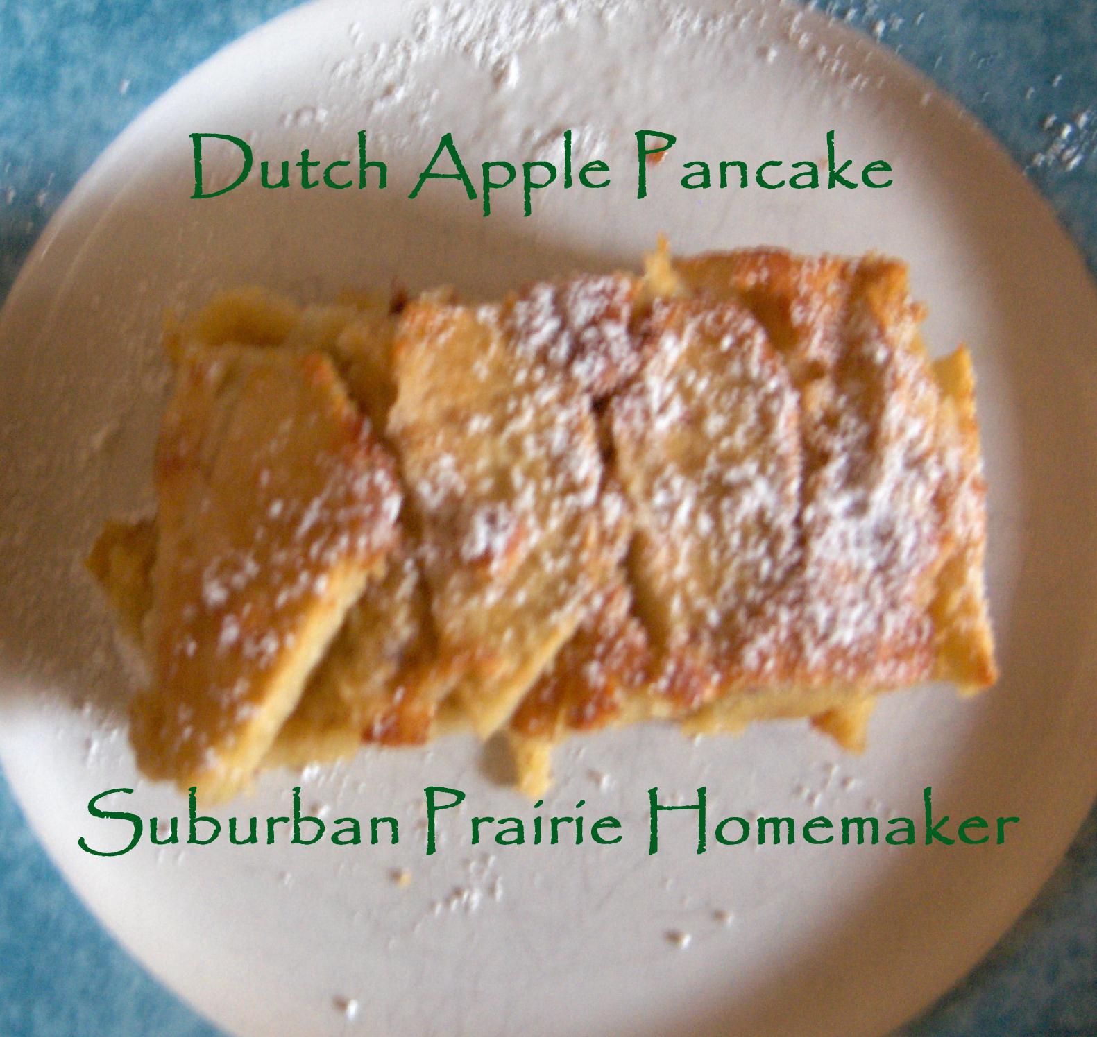Suburban Prairie Homemaker: Gluten Free Dutch Apple Pancake Recipe