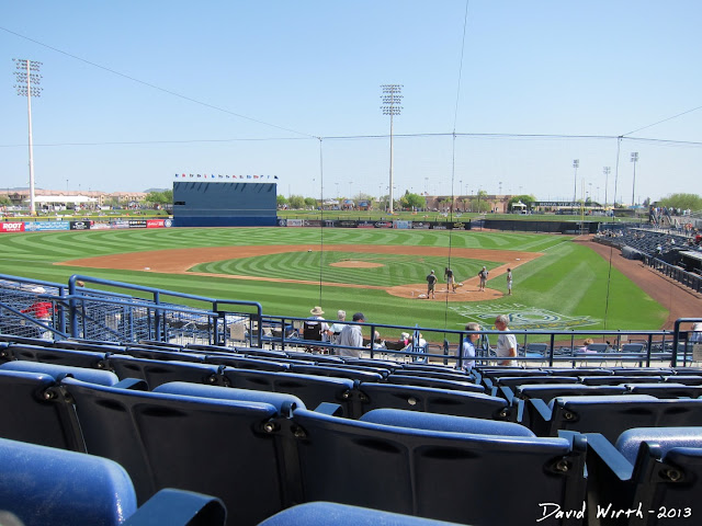 view from seat, peoria, spring training baseball, field, game