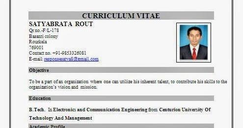 resume format for call center job for fresher