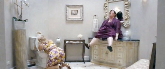 bridesmades movie poop scene