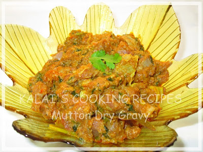 Mutton Dry Gravy with Coriander Leaves