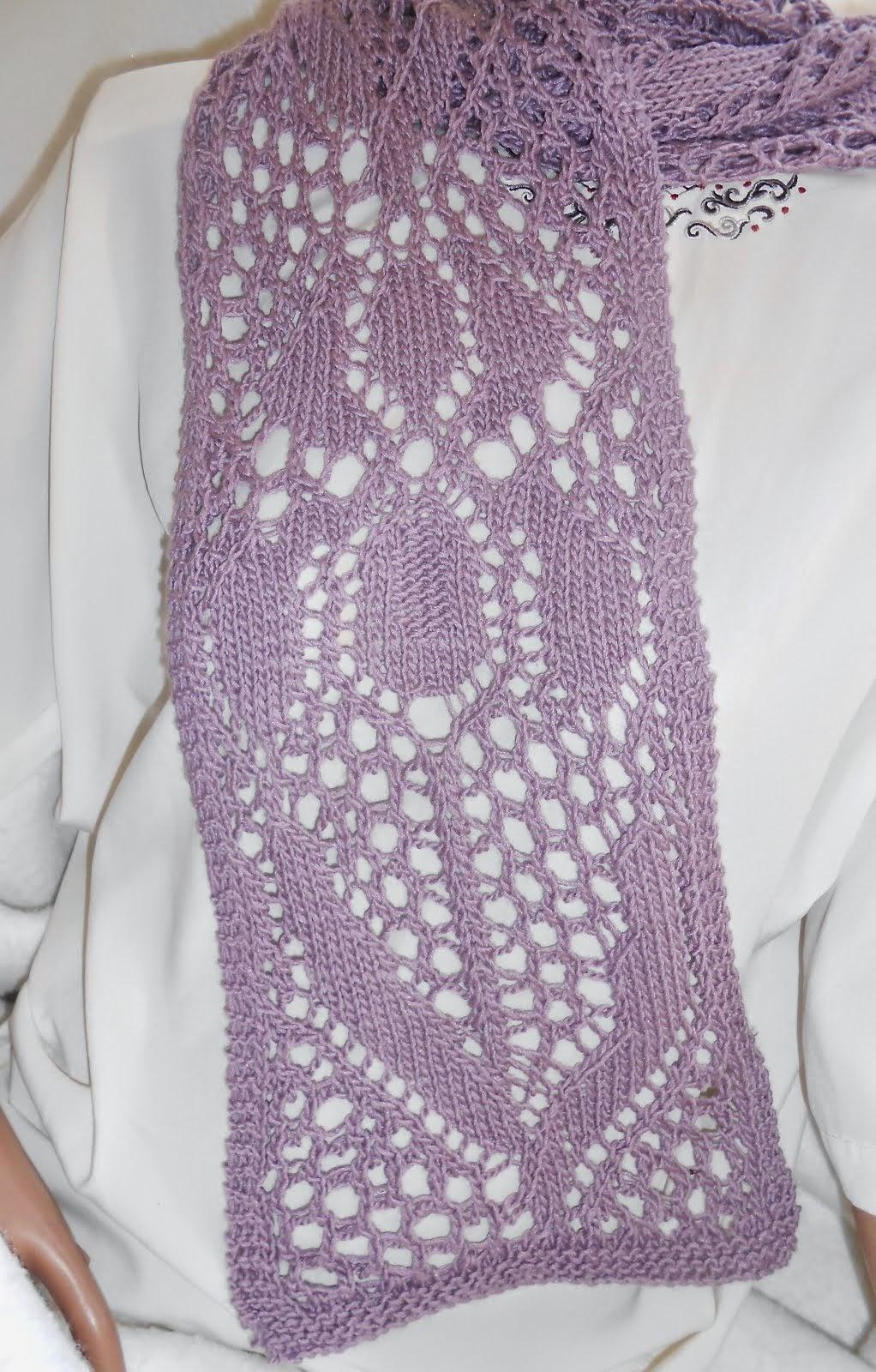 LoisLeigh's Luxurious Lacy Iris Scarf