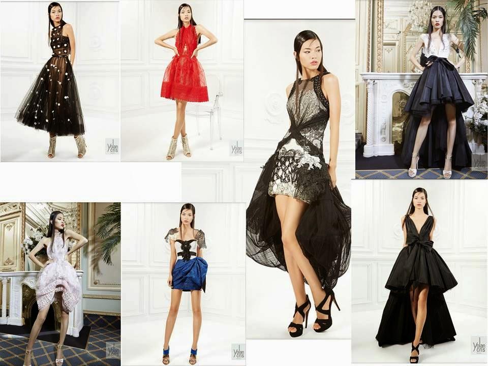 Vestidos de fiesta cortos y asimétricos Yolan Cris