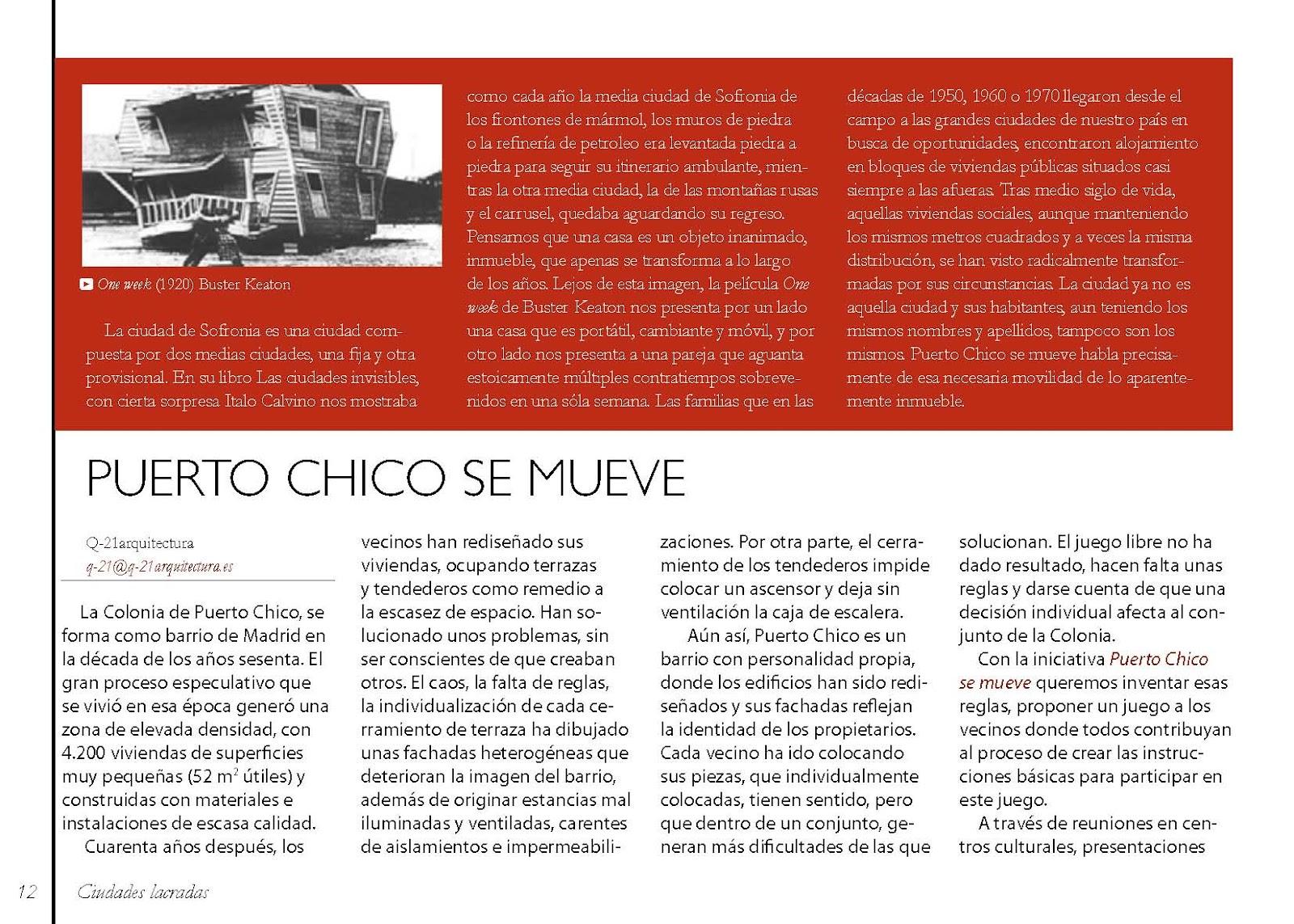 Puerto chico se mueve art culo en la revista m rgenes for Articulos sobre arquitectura