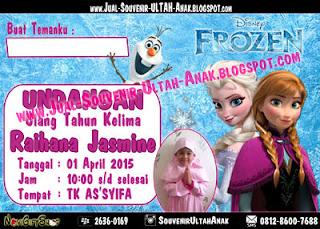 Undangan Frozen Raihana Kartu Undangan Ulang Tahun Anak (Invitation Card)