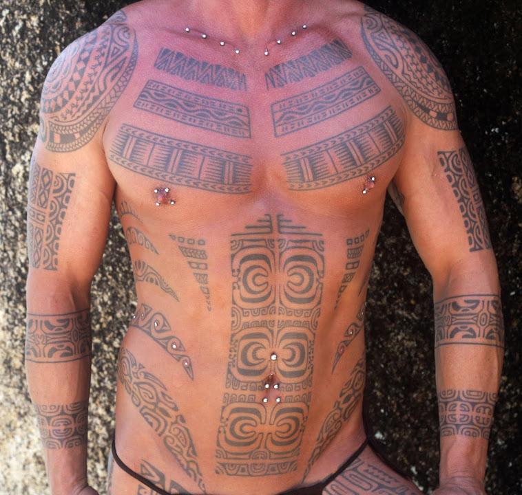Polynesian body tattoo by tiki tattoo thailand