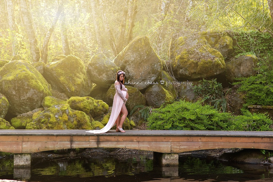 eugene springfield oregon maternity photography belknap hot springs secret garden