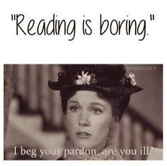 Cuando alguien te dice que leer es aburrido