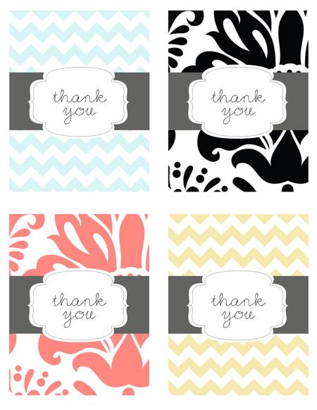 Vibrant image regarding thank you cards printable