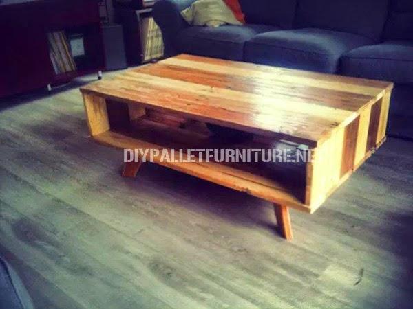 Mueblesdepalets.net: mesa de diseño hecha de palets