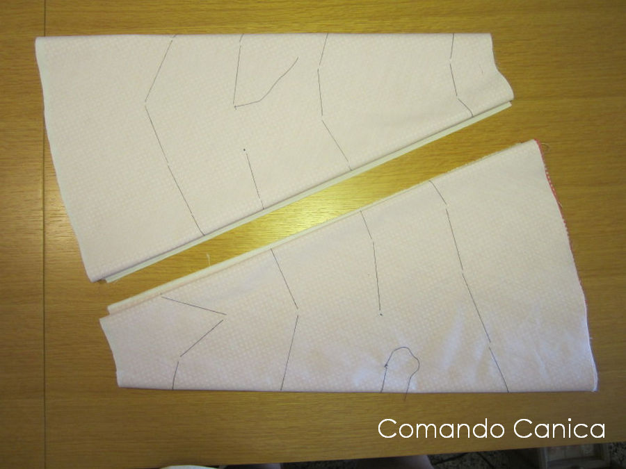 patron falda gitana - piezas falda