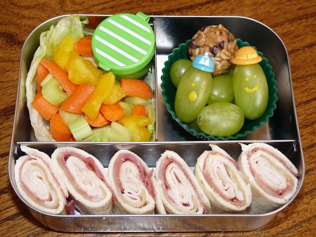 turkey rollup bento lunch