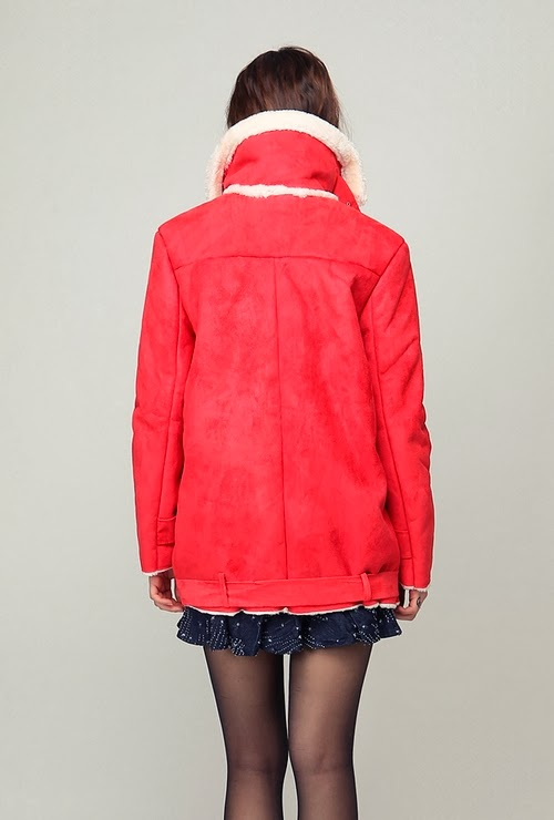 Sweetie Wide Collar Mouton Jacket