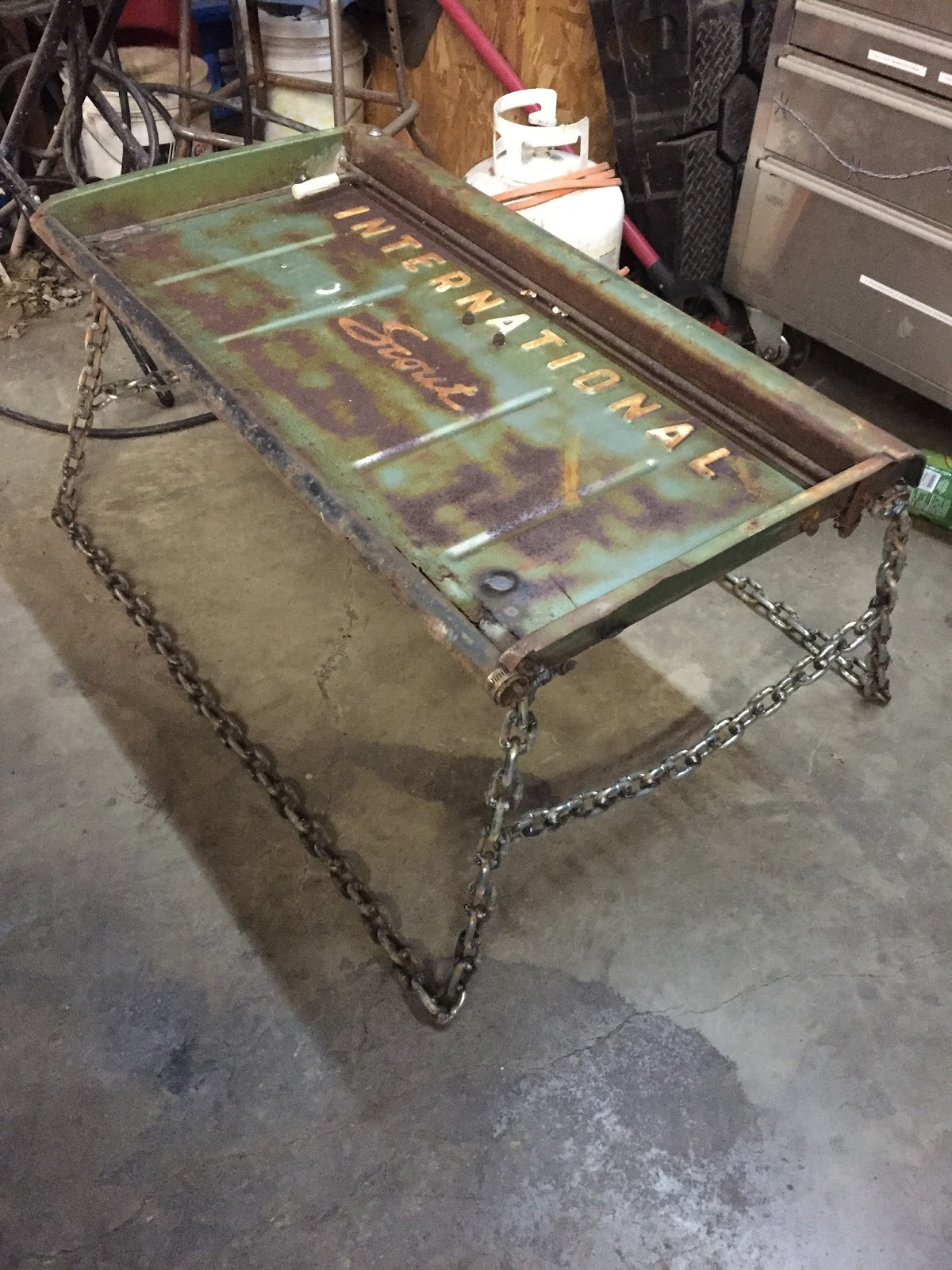 Tailgate coffee table shenandoah bicycle company blog welded coffee table by dillon geotapseo Images
