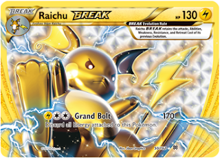 Raichu BREAK BREAKthrough Pokemon Card