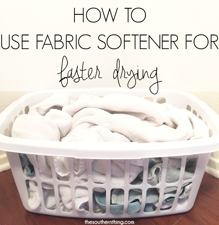how to use fabric softener for faster drying
