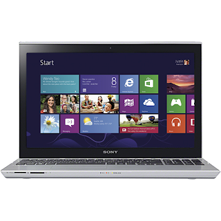 "Sony SVT15115CXS - VAIO T Series Ultrabook 15.5"" Touch-Screen Laptop - 8GB Memory - Silver Mist"
