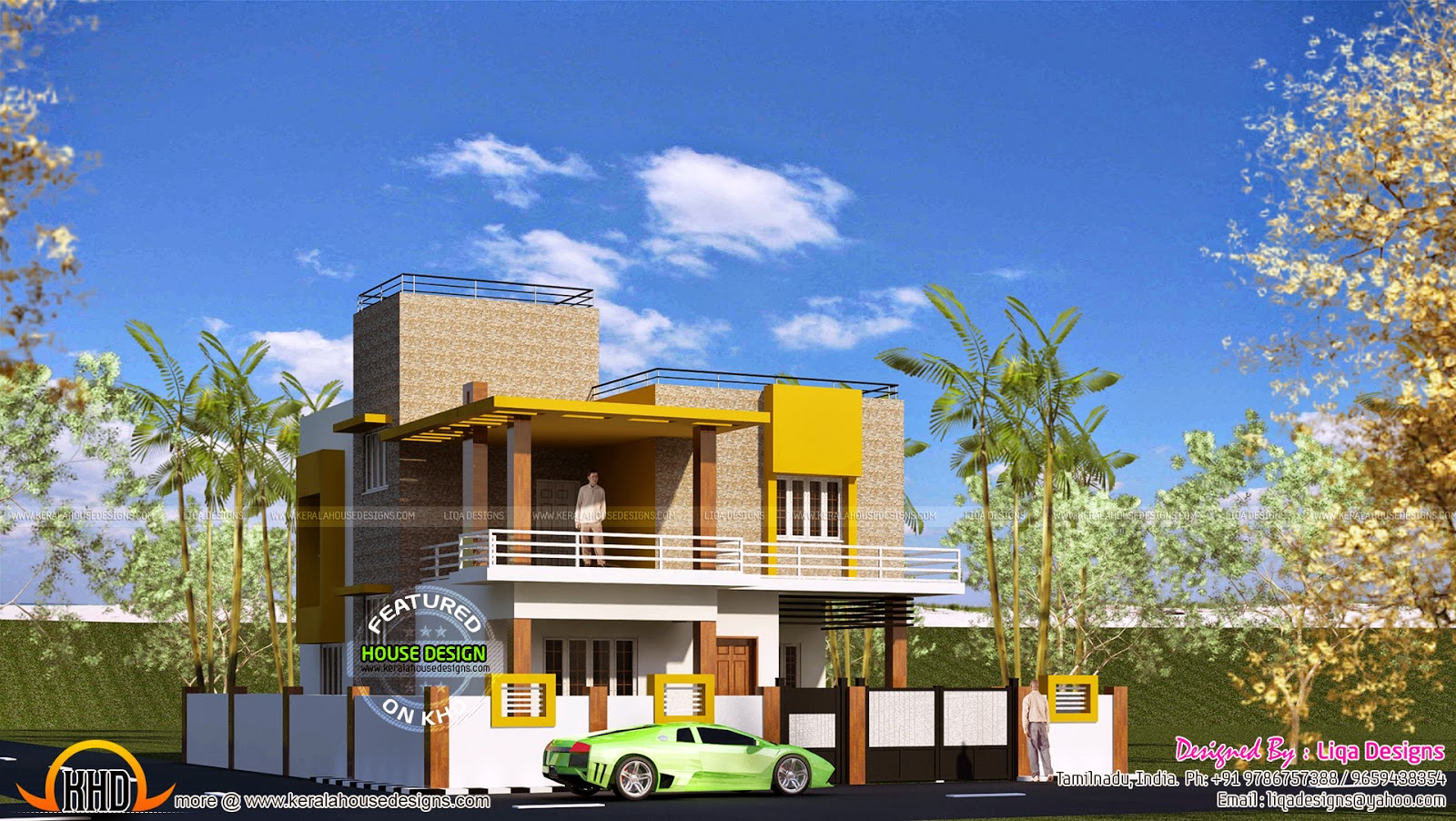 may 2015 kerala home design and floor plans flat roof house tamilnadu