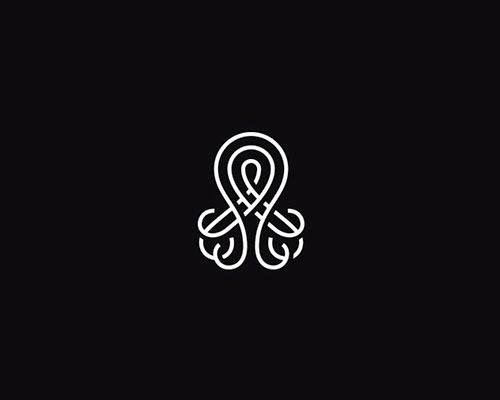Overlapping technique Logo Octupus