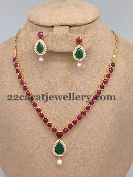 Light Weight Pota Ruby Emerald Set