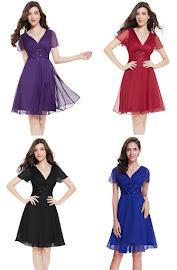 Short Flounce Sleeve Sparse Diamond Sequin Waist Midi Dress