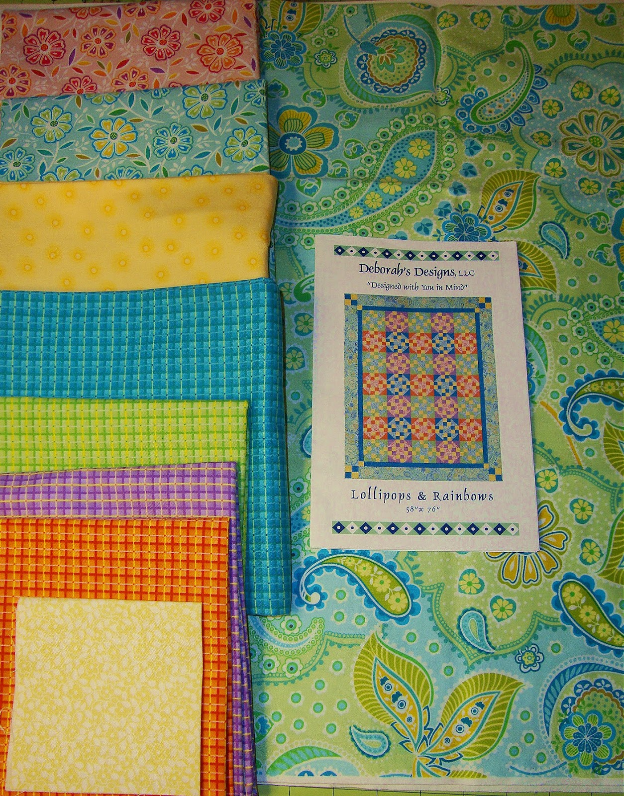 Quilting and sewing from the heart lollipops and rainbows quilt kit for sale - Quilt rits ...