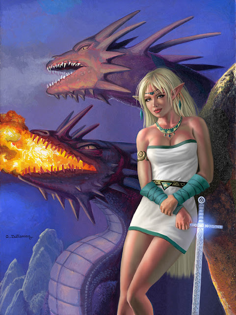 Dragons of Lodoss and Deedlit por stardriv