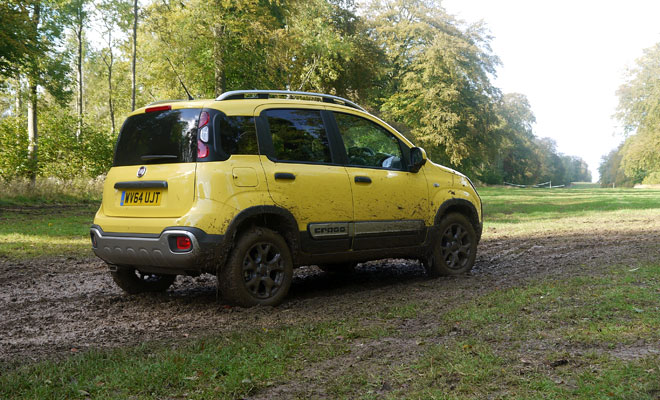 Fiat Panda Cross diesel rear side view