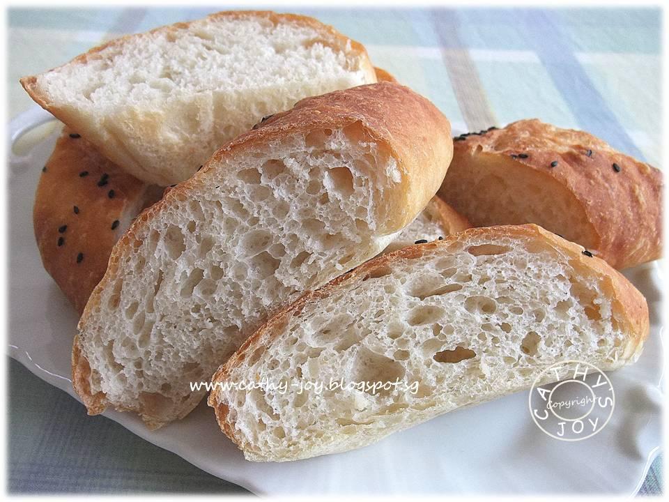cathy's joy: No Knead Baguette 免揉棍子面包