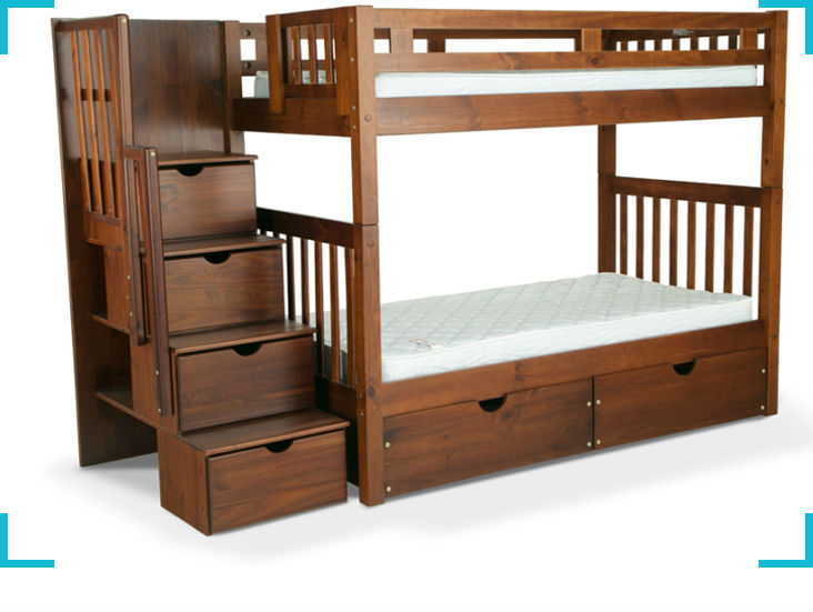 Twinkle Furniture Trading : Double Deck Bed Designs with Storage Drawer