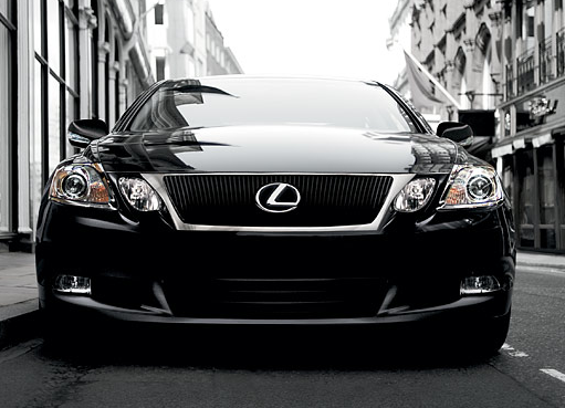 Front view of black 2011 Lexus GS350