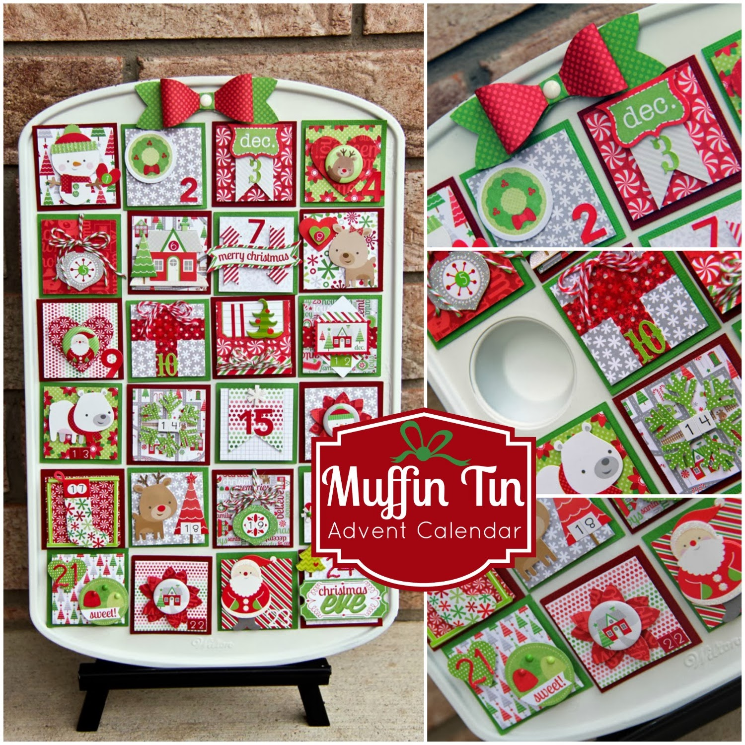 Typography Advent Calendar : Doodlebug design inc muffin tin advent calendar by jodi