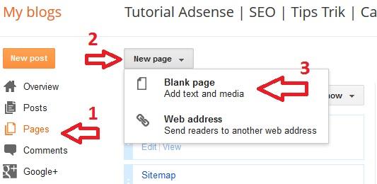 membuat halaman kontak di blogger, memasang form kontak di blogger blogspot