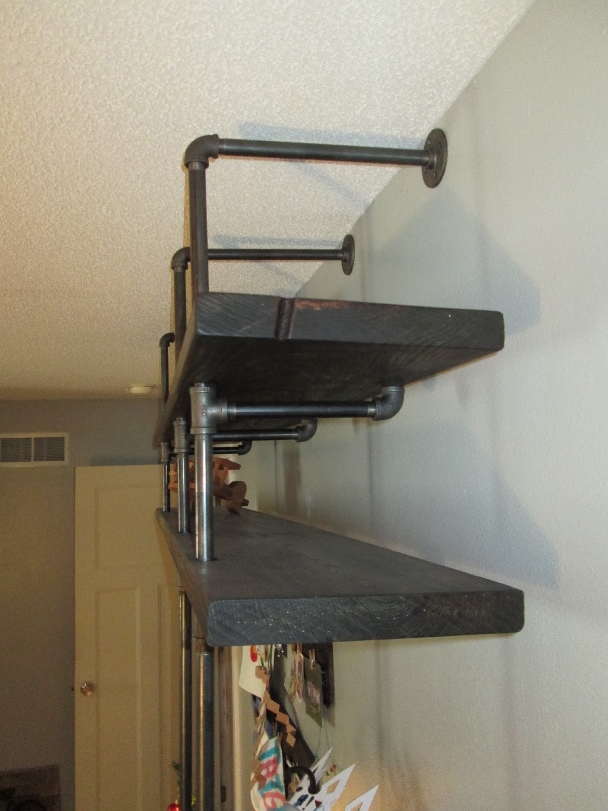 The Comforts Black Pipe Shelves And Ladder