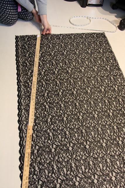 punky diyer diy black lace maxi skirt