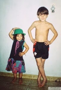 Messi with sister