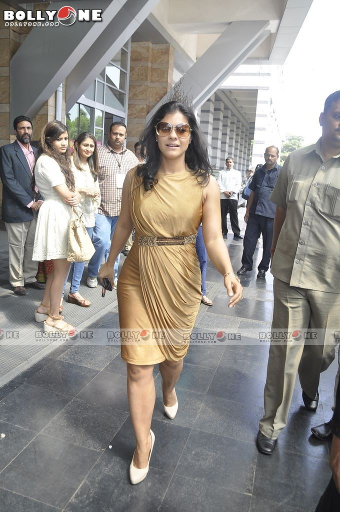 Kajol in golden Dress - Kajol at the Payal Singhal show at Lakme Fashion Week